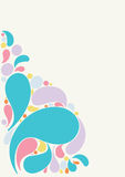 Beautiful splash drops background design Stock Photos