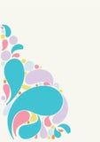 Beautiful splash drops background design Royalty Free Stock Photo