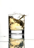 A beautiful splash of ice in a glass of water stock photos