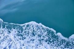 Beautiful splash of sea wave texture. Power in nature stock image