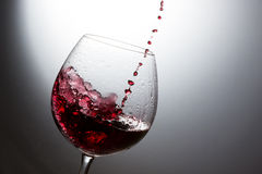Beautiful splash of wine Royalty Free Stock Photo