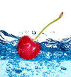Beautiful splashes a clean water and fruit Royalty Free Stock Images