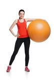 Beautiful sport woman doing  fitness exercise on Royalty Free Stock Photography