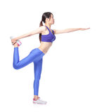 Beautiful sport Yoga girl Stock Image