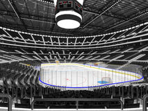 Beautiful sports arena for ice hockey with black  seats  VIP box Stock Photography