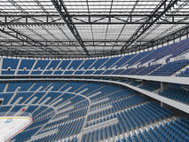 Beautiful sports arena for ice hockey with blue seats  VIP boxes 3d render Stock Images
