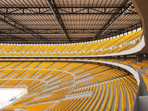 Beautiful sports arena for ice hockey with yellow seats and VIP boxes Stock Image