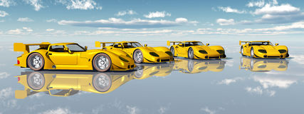 Beautiful Sports Cars Royalty Free Stock Photo
