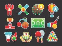 Beautiful sports icons Royalty Free Stock Photos