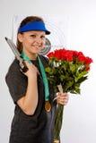 Beautiful sportswoman Stock Images