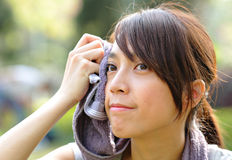 Beautiful sporty asian girl Royalty Free Stock Images