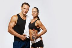Beautiful sporty couple Stock Photo