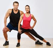 Beautiful sporty couple Royalty Free Stock Photo