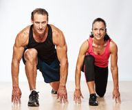 Beautiful sporty couple Royalty Free Stock Photos