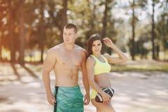 Beautiful sporty couple Royalty Free Stock Image