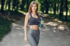 Beautiful sporty girl Stock Photography