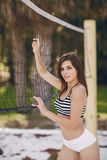 Beautiful sporty girl Stock Image