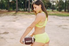 Beautiful sporty girl Royalty Free Stock Photography