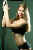 Beautiful sporty muscular woman Royalty Free Stock Photography
