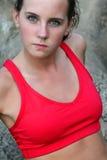 Beautiful sporty woman Stock Photos