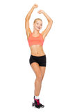 Beautiful sporty woman dancing Stock Photo