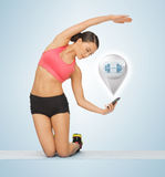 Beautiful sporty woman doing exercise Royalty Free Stock Photos