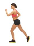 Beautiful sporty woman doing exercise Royalty Free Stock Photography