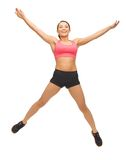 Beautiful sporty woman doing exercise Royalty Free Stock Images