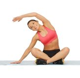 Beautiful sporty woman doing exercise Royalty Free Stock Photo