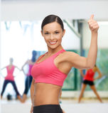 Beautiful sporty woman Stock Images