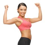 Beautiful sporty woman Royalty Free Stock Images