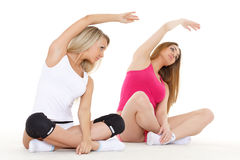 Sporty women do exercises. Fitness. Stock Image