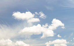 Beautiful spring blue cloudy sky clear Royalty Free Stock Photography