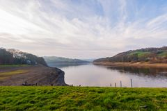 A beautiful spring day at Damflask Reservoir in the Peak District royalty free stock photos