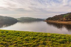 A beautiful spring dat at Damflask Reservoir in the Peak District royalty free stock image