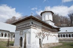 Beautiful spring day in an orthodox monastery Royalty Free Stock Photography