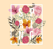Beautiful Spring design for apparel Royalty Free Stock Images
