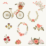 Beautiful spring floral clip art. Royalty Free Stock Photo
