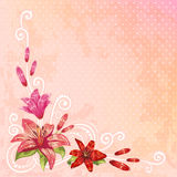 Beautiful spring floral postcard Royalty Free Stock Images