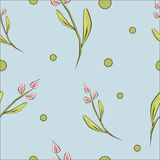 Beautiful spring floral seamless background Stock Image