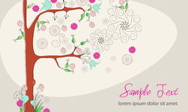 Beautiful spring floral tree Royalty Free Stock Photos
