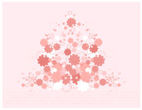 Beautiful Spring flowers. Pink Spring flowers vector illustration Stock Image