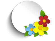 Beautiful Spring Flowers Circle Button Background Royalty Free Stock Photography