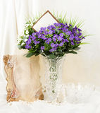 Beautiful spring flowers in a glass vase Royalty Free Stock Photo