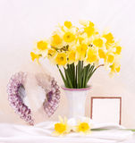 Beautiful spring flowers in a glass vase Stock Photography