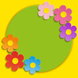 Beautiful Spring Flowers Green Background -Vector Royalty Free Stock Images