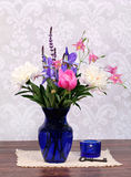 Beautiful spring flowers in a vase. Royalty Free Stock Photos