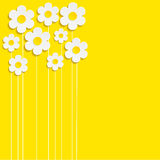 Beautiful Spring Flowers yellow Background -Vector.  Stock Images
