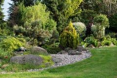 Beautiful spring garden design Stock Image