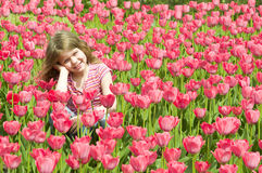 Beautiful Spring Girl Royalty Free Stock Images